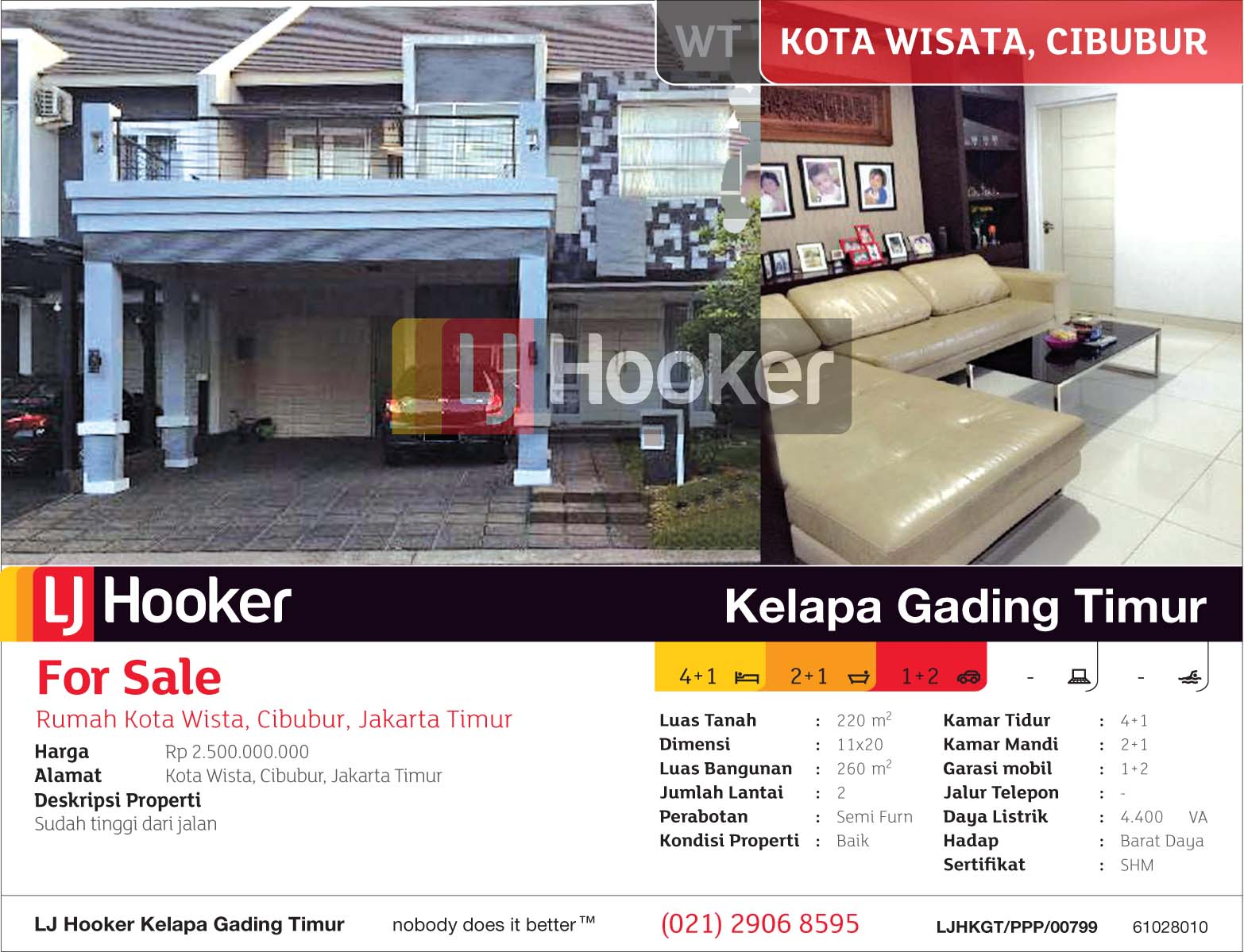 Ljhkgt Ppp 00799 Wt For Sale Jual Rumah Kota Wisata