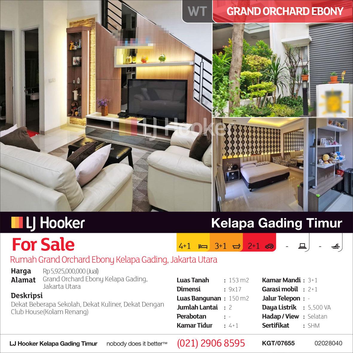 KGT/07655/WT (For Sale - Jual) Rumah Grand Orchard Ebony ...